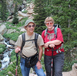 Jim & Carol at Loch Vale RMNP