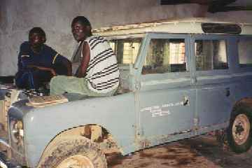 Land Rover for training at Livingstonia